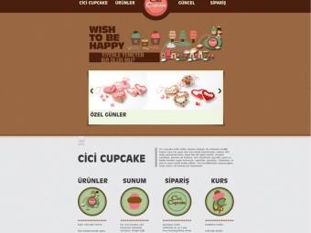 Cici Cupcake Kurumsal Web Sitesi