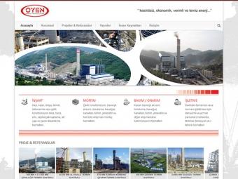oyen enerji kurumsal web sayfası